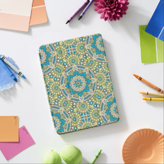 Green and Blue Floral Mandala iPad Pro Cover
