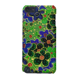 Green and blue flowers with gold trim iPod touch (5th generation) covers