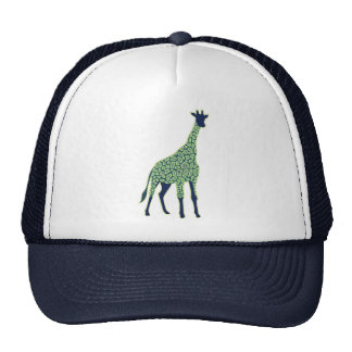 Green and Blue Giraffe Cap