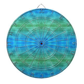 Green And Blue Gradient Texture Pattern Dartboard