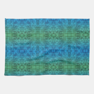 Green And Blue Gradient Texture Pattern Towel