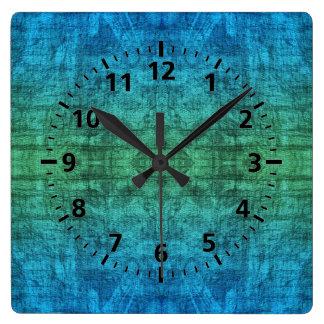 Green And Blue Gradient Texture Pattern Wallclock