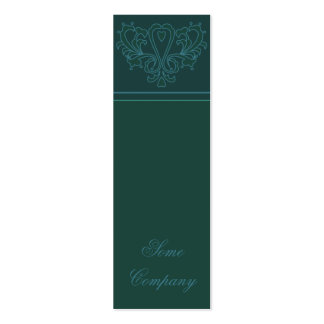 Green And Blue Heart Damask Business Card Templates