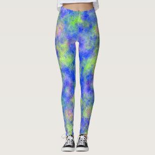 Green and Blue Leggings