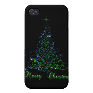 Green and Blue Merry Christmas Case For iPhone 4