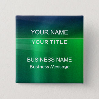 Green and Blue Metalic - Matte Look Name Tag 15 Cm Square Badge