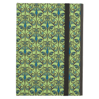 Green and Blue Ornate Damask iPad Air Case