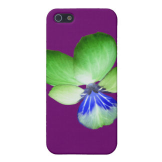 Green and Blue Pansy iPhone 4 Case