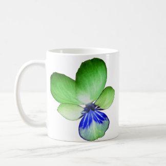Green and Blue Pansy Mug