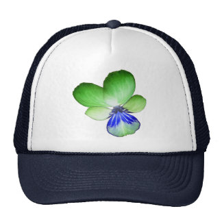 Green and Blue Pansy Trucker Hat