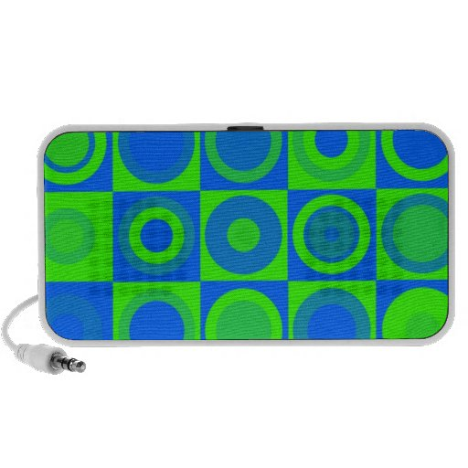 Green and Blue Pattern Doodle Mini Speaker