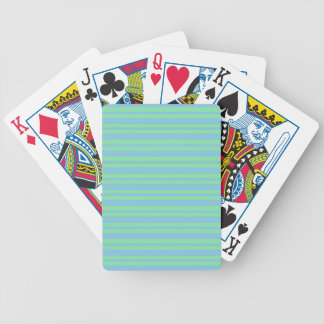 Green and Blue Pinstripe Bicycle Playing Cards