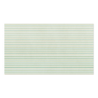 green and blue pinstripe business cards