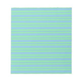Green and Blue Pinstripe Notepad