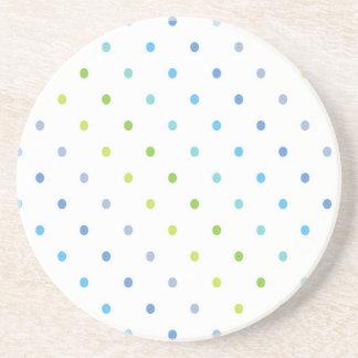 Green and Blue Polka Dots Coasters