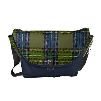 Green and blue Scottish tartan Commuter Bags