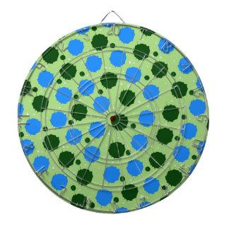 Green and Blue Splash Dots Dart Board