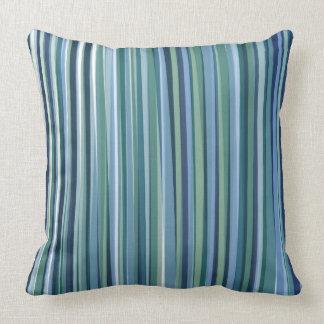 Green and Blue stripe pillow Pillow modern