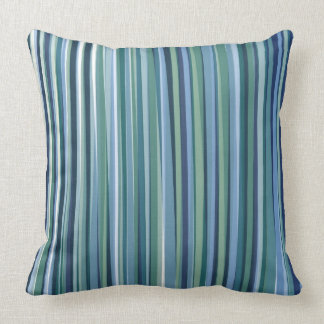 Green and Blue stripe pillow Pillow modern Throw Cushion