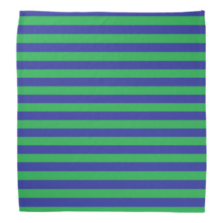 Green and Blue Stripes Bandanna