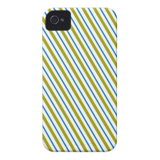 Green and blue stripes beautiful designer pattern iPhone 4 cover