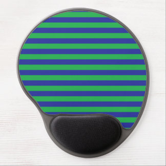 Green and Blue Stripes Gel Mousepad