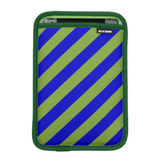 Green and Blue Stripes Pattern iPad Mini Sleeves