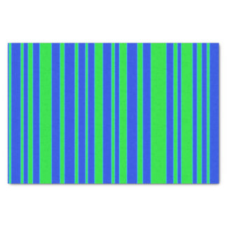 Green and Blue Stripes Tissue Paper