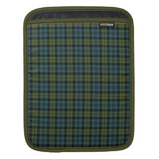 Green and Blue Tartan iPad Sleeve