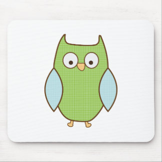 green and blue textured owl mousepads