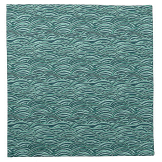 Green and blue waves pattern. Sea texture. Napkin