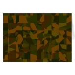 Green and Brown Camo, Abstract Pattern.