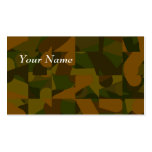 Green and Brown Camo, Abstract Pattern. Pack Of Standard Business Cards