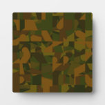 Green and Brown Camo, Abstract Pattern. Plaques