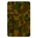 Green and Brown Camo, Abstract Pattern. Rectangular Magnet
