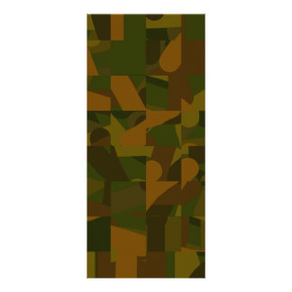 Green and Brown Camo Abstract Pattern Rack Card