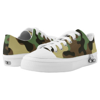 Green  and Brown Camouflage. Camo your Low Tops