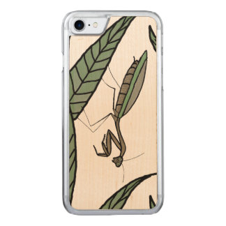 Green And Brown Praying Mantis On Green Leaves Carved iPhone 7 Case