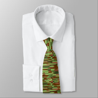 Green and Brown Spheres Neck Tie