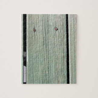 Green and Brown Wood Plank Walkway Jigsaw Puzzle