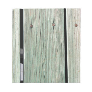 Green and Brown Wood Plank Walkway Notepad
