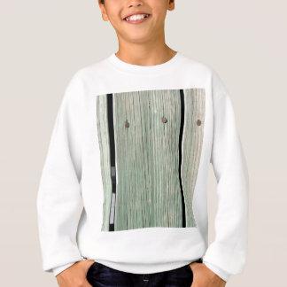 Green and Brown Wood Plank Walkway Sweatshirt