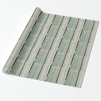 Green and Brown Wood Plank Walkway Wrapping Paper
