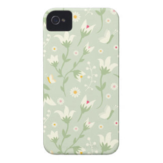 Green and cream floral stylish blackberry bold iPhone 4 covers