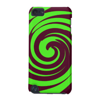 Green and dark brown swirl iPod touch (5th generation) cases