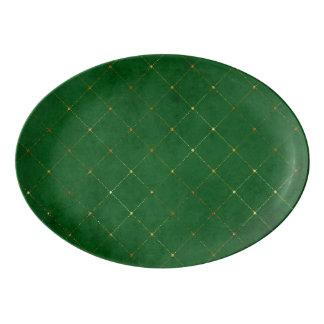Green and Gold beautiful design Porcelain Serving Platter