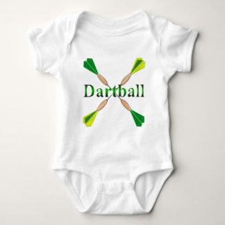 Green and Gold Dartball Darts Baby Bodysuit
