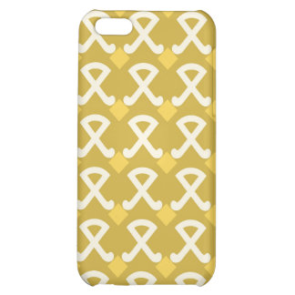 Green and Gold Diamonds and Hooks Patterns Cover For iPhone 5C