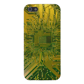 Green and Gold Electronic Computer Circuit Board iPhone 5/5S Cover