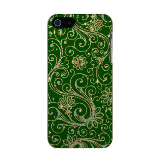 Green And Gold Floral Glitter & Sparkles Incipio Feather® Shine iPhone 5 Case